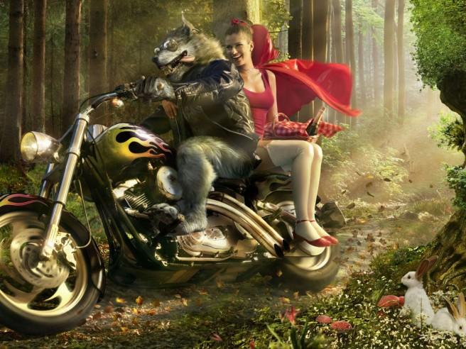 Motorcycle-Girls-Werewolf-Forests