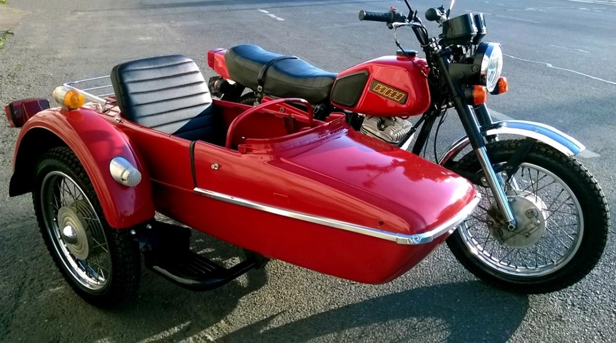IZH sidecar Planeta 5, a vintage Soviet bike